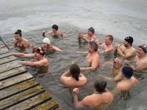 Lednové plavání na Broďáku